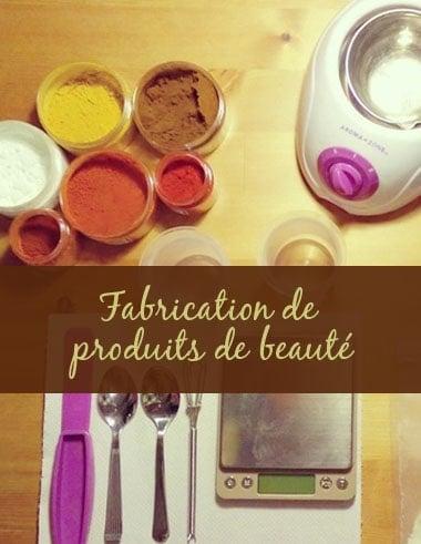Fabrication de produits de beauté